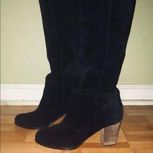 Cole Haan Black Suede Boots